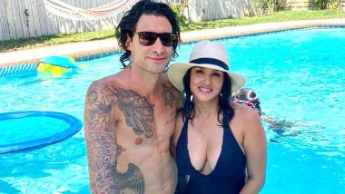 Sunny Leone Spends Some Mushy Time In Pool With Husband Daniel Weber In Super Hot Black Monokini (View Pics)