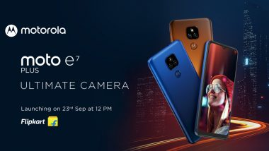 Moto E7 Plus to Be Launched in India on September 23, 2020, Teased on Flipkart Ahead of Launch