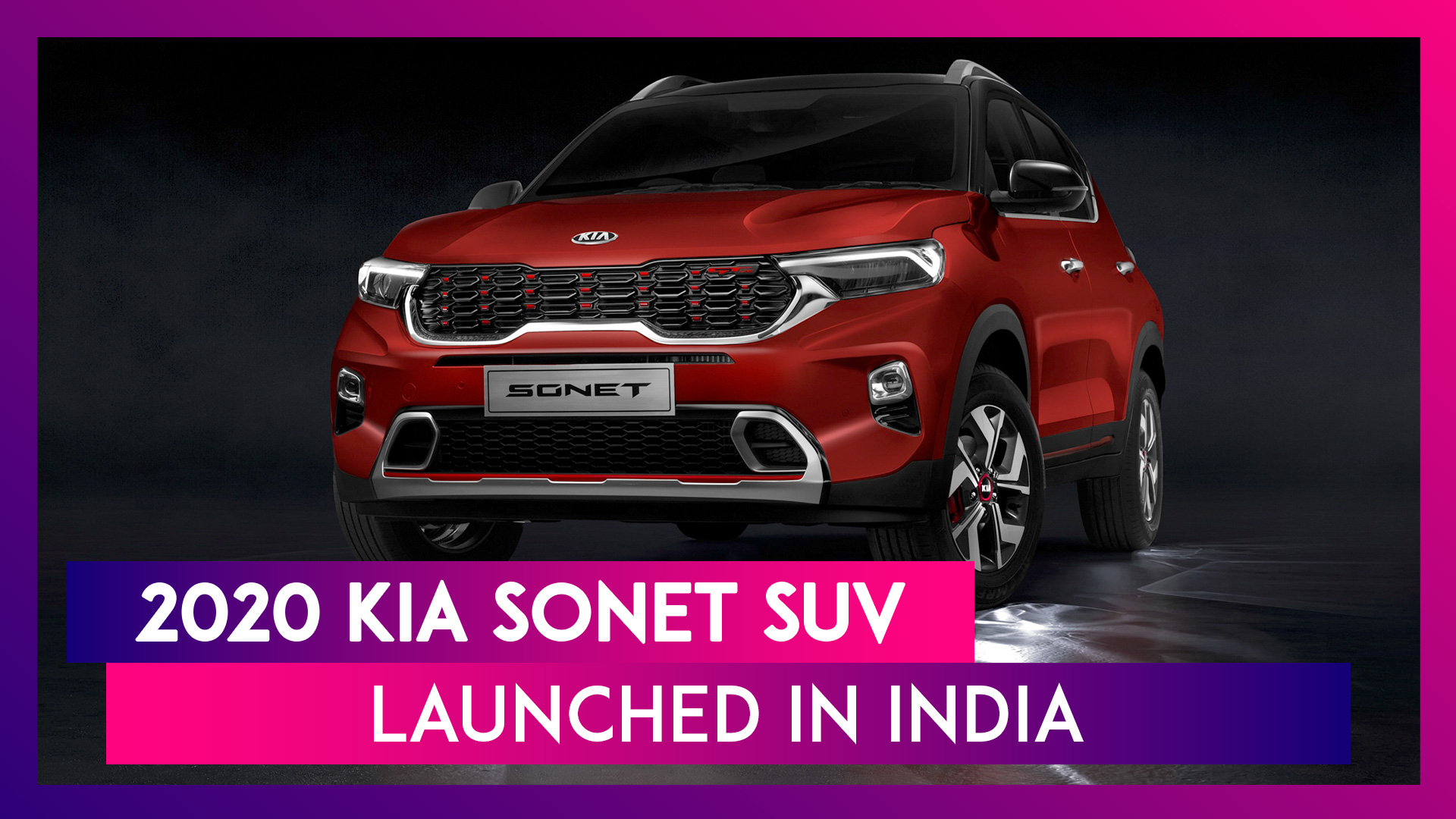 Kia Sonet SUV Launched in India at Rs 6.71 Lakh; Prices, Features, Variants & Specifications