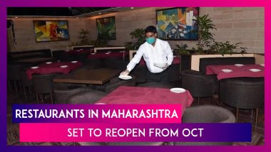 Restaurants, Bars In Maharashtra Could Open For Dine-In From October First Week After Hospitality Industry Representatives Meet Uddhav Thackeray: Reports