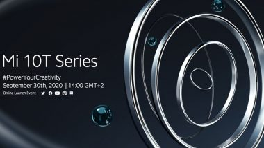 Mi 10T Series to Be Launched on September 30, 2020; Expected Prices, Features, Variants & Specifications
