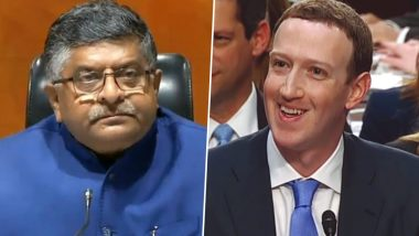 Facebook Row: IT Minister RS Prasad Writes to Mark Zuckerberg, Says Problematic When FB Employees Abuse PM Narendra Modi 'On Record'