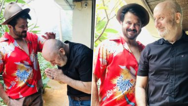 Anupam Kher Thanks Anil Kapoor for His Blessings Before Leaving for Bhopal to Shoot for The Last Show (View Pics)