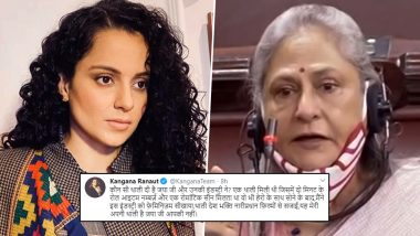 Kangana Ranaut Responds to Jaya Bachchan's 'Thali' Remark, Claims Roles, Item Numbers in Bollywood Used to Be Given By Sleeping With the Hero