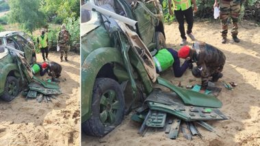 Indian Army's Vehicle Meets With Accident on Bikaner-Jaipur Road, Major And Colonel Killed