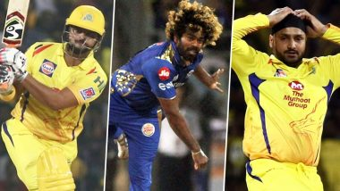 Suresh Raina, Lasith Malinga, Harbhajan Singh Opt Out of IPL 2020: List of Players Who Won't Take Part This Season and Their Replacements