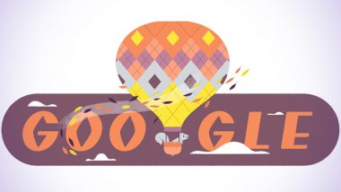 Autumn 2020 Google Doodle: Search Engine Giant Celebrates the First Day of Fall Season in Northern Hemisphere With Grey Squirrel Piloting a Colourful Hot Air Balloon