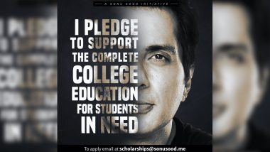 Sonu Sood to Launch Full Scholarship for Students for Higher Education (View Post)