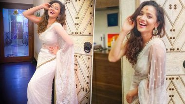 Ankita Lokhande Shares Her Happiness Mantra by Flaunting a Gorgeous Smile in White Saree (View Post)