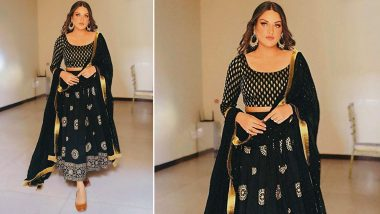Bigg Boss 13 Beauty Himanshi Khurana Dazzles In a Shimmery Black Ethnic Attire! (View Pic)
