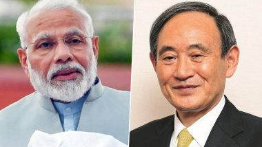 Yoshihide Suga Elected as Prime Minister of Japan: PM Narendra Modi Congratulates New Japanese Premier on his Appointment