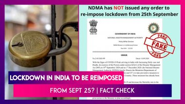 Lockdown In India To Be Reimposed From September 25? PIB Reveals The Truth Behind The Fake Post Quoting NDMA