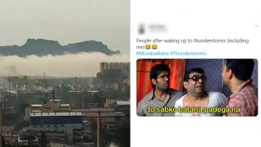 'Thor, is That You?' #MumbaiRains Funny Memes and Jokes Trend on Twitter Again After People Wake Up to Intense Thundering and Lightning (See Pics and Videos)