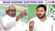Bihar Assembly Elections 2020 Dates And Schedule: Voting in 3 Phases on October 28, November 3 and 7, Poll Results on Nov 10