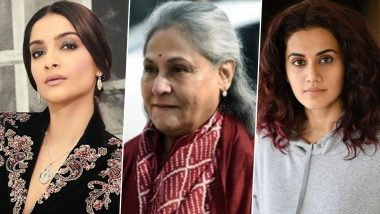 Sonam Kapoor, Taapsee Pannu Laud Jaya Bachchan's Parliament Speech About 'Conspiracy to Defame Bollywood' (View Tweets)