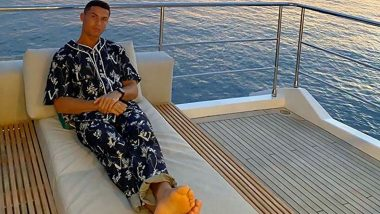 Cristiano Ronaldo Relaxes in Most Stylish PJs on His Luxury Yacht Ahead of Juventus' 2020–21 Serie A Opener (See Pic)
