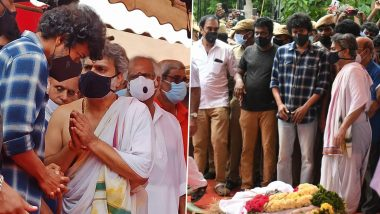 SP Balasubrahmanyam Funeral: Thalapathy Vijay Attends The Last Rites Of The Legendary Singer Performed By His Son SPB Charan (View Pics)