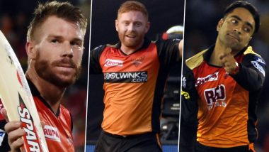 SRH Playing XI in IPL 2020: 4 Overseas Players Who Could Feature in Sunrisers Hyderabad Line Up Throughout Dream11 Indian Premier League