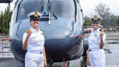 Indian Navy Officers Sub-lieutenant Kumudini Tyagi and Sub-lieutenant Riti Singh Create History by Becoming First-Ever Women Airborne Combatants to Operate From Warships; Know More About Them
