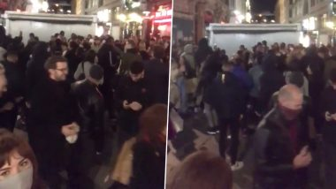 Social Distancing, Who? Huge Crowds Spill Out of Pubs and Gather for 'Impromptu Party' in UK Streets Followed by New COVID-19 Restrictions (See Pics and Videos)
