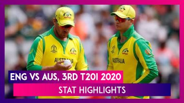 ENG vs AUS Stat Highlights, 3rd T20I 2020: Mitchell Marsh Shines As Australia Win By Five Wickets