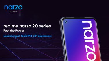 Realme Narzo 20, Narzo 20A & Narzo 20 Pro to Be Launched in India on September 21, 2020
