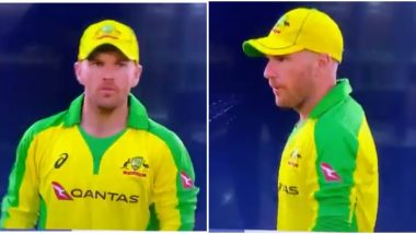 ENG vs AUS 1st T20I 2020: Aaron Finch Breaks COVID-19 Protocols, Caught Spitting (Watch Video)