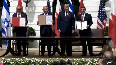 Abraham Accords Signing: As UAE, Bahrain and Israel Ink Deal, Donald Trump Says '5 or 6 More Middle East Countries' Will Sign Peace Agreement