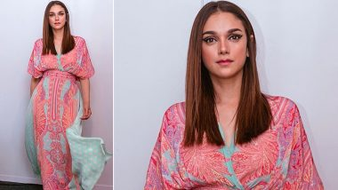 Aditi Rao Hydari Having a Printed Affair Dressed in a Ritu Kumar Kaftan Is All Kinds of Chic!