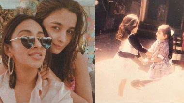 Alia Bhatt Shares an Adorable Childhood Picture to Wish BFF Akansha Ranjan Kapoor on Her Birthday (View Post)