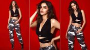 Ananya Panday Joins the Cool Camouflage Fashion Gang, This Promotional Style Is Edgy Chic!