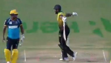 Andre Russell Hilariously Imitates Rashid Khan's Celebrations After Lucky Escape in CPL 2020 (Watch Video)