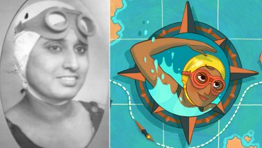 Who is Arati Saha Featuring in Google Doodle? Know 9 Interesting Facts About the First Asian Woman to Cross the English Channel on Her 80th Birthday