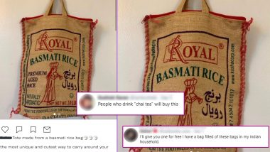 Basmati Rice Tote Bag is Selling Online and Desi People Are Losing Their Mind Over This 'Fashion'