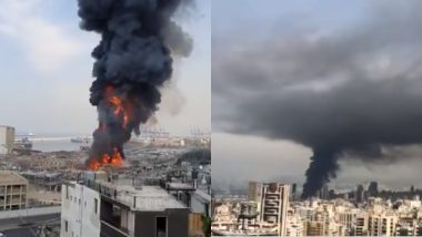 Fire Erupts at Beirut Port, Lebanon Residents Share Worrying Pictures And Videos of Devastating Blast