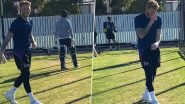 IPL 2020 Players' Update: Ben Stokes Rattles Stumps as RR All-Rounder Resumes Training in Christchurch (Watch Video)