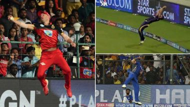 Best Catches in IPL History: Kieron Pollard's One-Handed Take, AB de Villiers' Gravity-Defying Catch and Other Top Catches in Indian Premier League (Watch Videos)