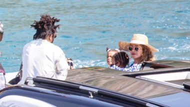 Check Out These Lovely Pics Of Beyonce Enjoying A Yacht Ride With Daughters And Jay-Z During Her Birthday Vacay