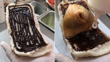 What The Fudge! Chocolate Fudge Samosa Served in Pav With Chocolate Sauce Has Unimpressed Netizens (Watch Viral Video)