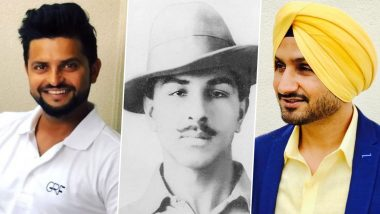 Bhagat Singh 113th Birth Anniversary: Harbhajan Singh, Suresh Raina, Shikhar Dhawan and Others From Cricket Fraternity Pay Tribute to the Freedom Fighter