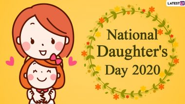Happy Daughters Day 2020 Images & HD Wallpapers for Free Download Online: National Daughter's Day Messages With WhatsApp Stickers and GIF Greetings