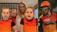 SRH Captain David Warner Receives Good Luck Wishes From Wife Candice and Daughters Ahead of Match Against RCB in Dream11 IPL 2020 (Watch Adorable Video)