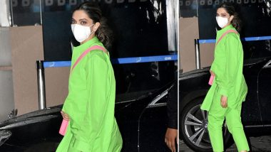 Deepika Padukone Stuns in a Neon Green Outfit As She Jets Off to Goa For the Shooting Of Shakun Batra Film (View Pics)