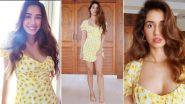 Disha Patani Is Letting Her Joy Burst Like the Pretty Yellow Sunflowers on Her Dress!