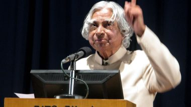 APJ Abdul Kalam Death Anniversary 2021: Leaders Across Political Spectrum Pay Tributes to India's 'Missile Man'
