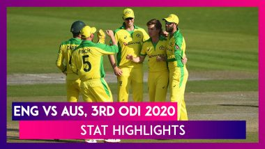 ENG vs AUS Stat Highlights, 3rd ODI 2020: Glenn Maxwell & Alex Carey Help Australia Win Series 2-1