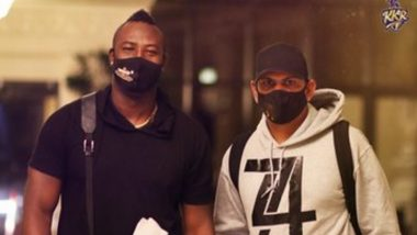 IPL 2020 Players Update: West Indies All-Rounders Andre Russell, Sunil Narine Arrive in Abu Dhabi to Join KKR Squad