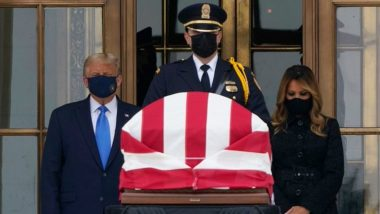 Donald Trump Pays Respects to Late Supreme Court Justice Ruth Bader Ginsburg