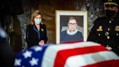 Ruth Bader Ginsburg Becomes 1st Woman to Lie in State at US Capitol