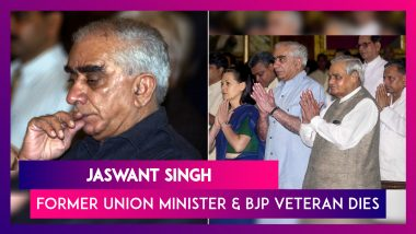 Jaswant Singh, Former Union Minister And BJP Veteran, Dies Aged 82 After Cardiac Arrest